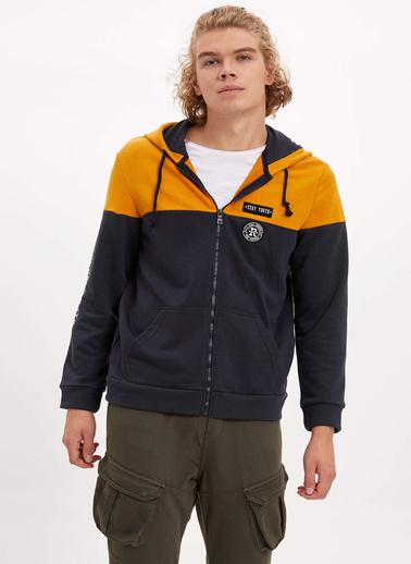 DeFacto Kapüşonlu Sweatshirt Sarı